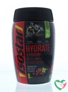 Isostar Hydrate & perform cranberry red fruit