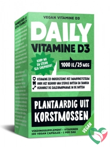 Daily Supplement Daily Vitamine D3 1000 IE / 25 mcg van korstmossen