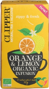 Clipper Orange & lemon infusion bio