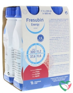 Fresubin Energy drink aardbei 200 ml