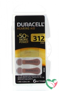 Duracell Hearing aid nummer 312