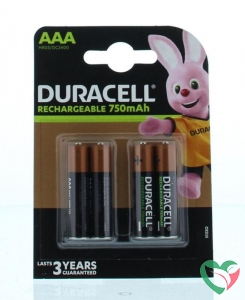 Duracell Rechargeable AAA 750 mAh