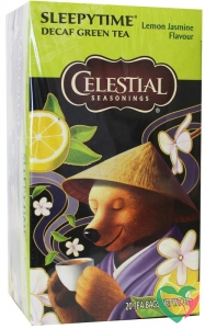 Celestial Season Sleepytime decaf green tea lemon jasmine
