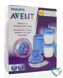 Avent Via voorraadbeker moedermelk set & adapter