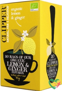 Clipper Lemon & ginger tea bio