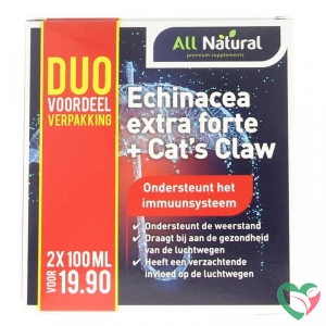 All Natural Echinacea extra forte + cats claw